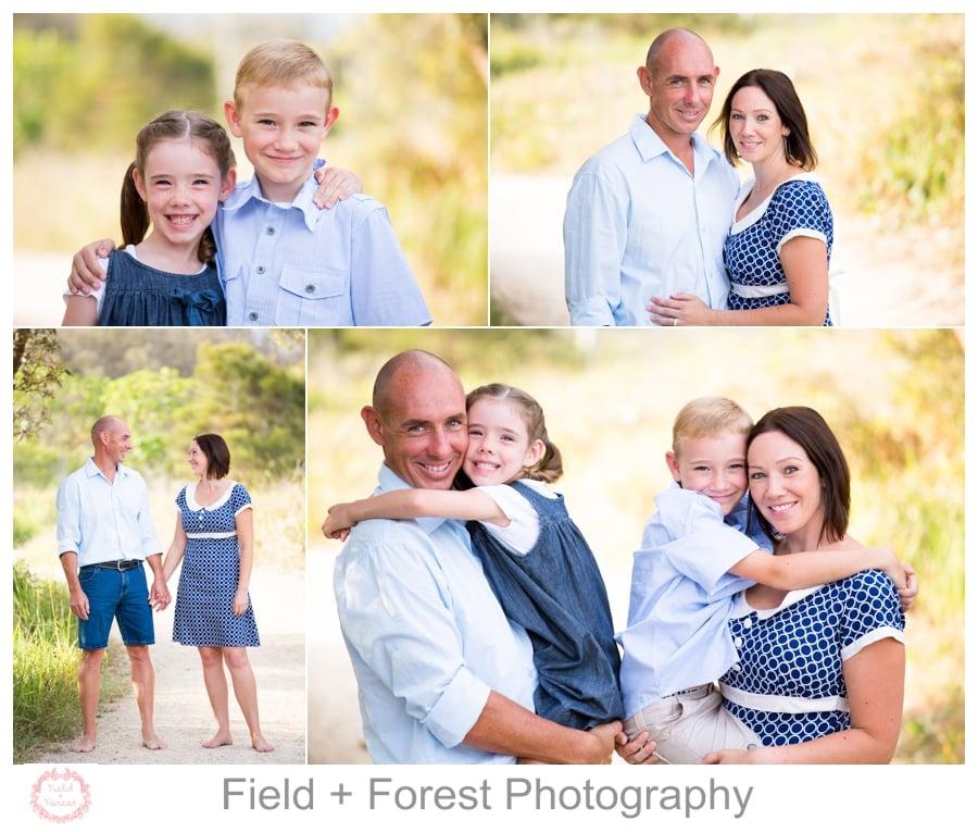 gold coast beach family portraits