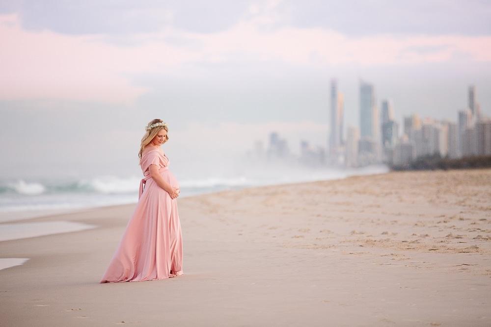 Gold Coast maternity photographer beach portraits Field + Forest Photography www.fieldandforest.com.au