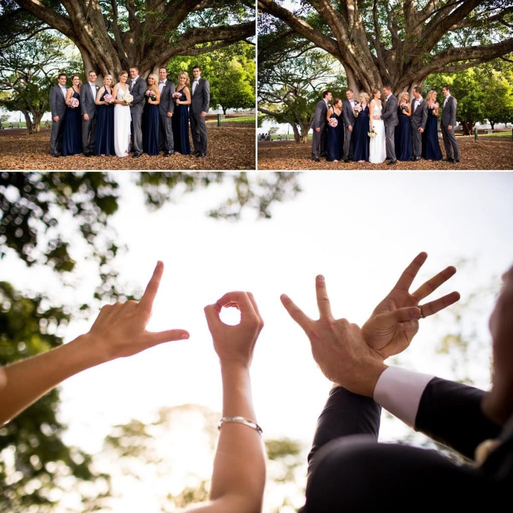 New Farm Park Brisbane Wedding Ben & Hope Photographers Anna Campbell dress www.benandhopeweddings.com.au